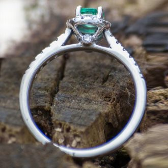 silver green ring